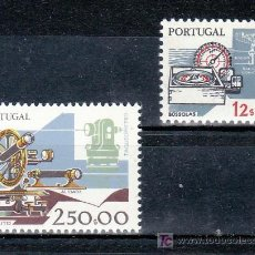 Sellos: PORTUGAL 1572/3 SIN CHARNELA, HERRAMIENTA DE TRABAJO, TACOMETRO, BRUJULA Y RADAR. Lote 173028580