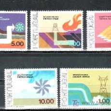 Sellos: PORTUGAL 1323/7 SIN CHARNELA, ENERGIA, CICLO DE LOS RECURSOS NATURALES. Lote 22004828