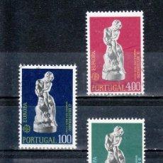 Sellos: PORTUGAL 1211/3 USADA, TEMA EUROPA, ESCULTURA. Lote 16928401