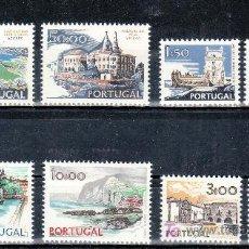 Sellos: PORTUGAL 1136/43 CON CHARNELA, VISTAS Y MONUMENTOS. Lote 19732713