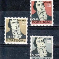 Sellos: PORTUGAL 1004/6 SIN CHARNELA, BICENTENARIO NACIMIENTO DEL POETA MANUEL MARIA BARBOSA DE BOCAGE . Lote 26981663