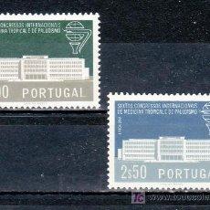 Sellos: PORTUGAL 849/50 CON CHARNELA, 6º CONGRESO INTERNACIONAL MEDICINA TROPICAL Y DEL PALUDISMO EN LISBOA. Lote 22727721