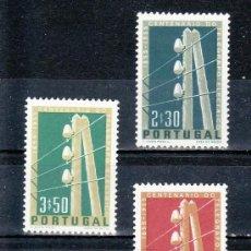 Sellos: PORTUGAL 826/8 CON CHARNELA, CENTENARIO DEL TELEGRAFOS ELECTRICO EN PORTUGAL. Lote 21130461
