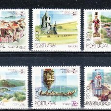 Sellos: PORTUGAL 1476/81 SIN CHARNELA, CONFERENCIA MUNDIAL DE TURISMO,. Lote 19447245