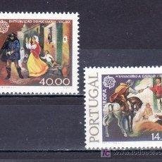Sellos: PORTUGAL 1421A/2A SIN CHARNELA, TEMA EUROPA, HISTORIA DEL CORREO. Lote 16911756