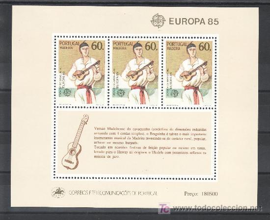 PORTUGAL MADEIRA HB 6 SIN CHARNELA, TEMA EUROPA, AÑO EUROPEO DE LA MUSICA, (Sellos - Extranjero - Europa - Portugal)