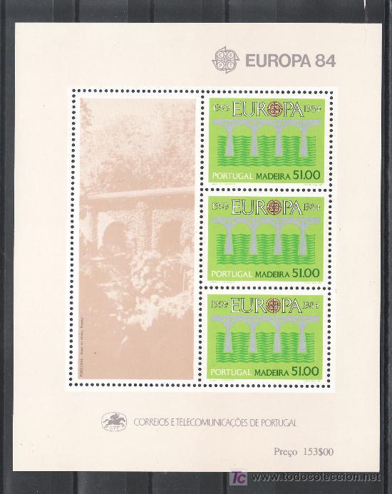 PORTUGAL MADEIRA HB 5 SIN CHARNELA, TEMA EUROPA, 25º ANIVERSARIO DE LA CONFERENCIA EUROPEA, (Sellos - Extranjero - Europa - Portugal)