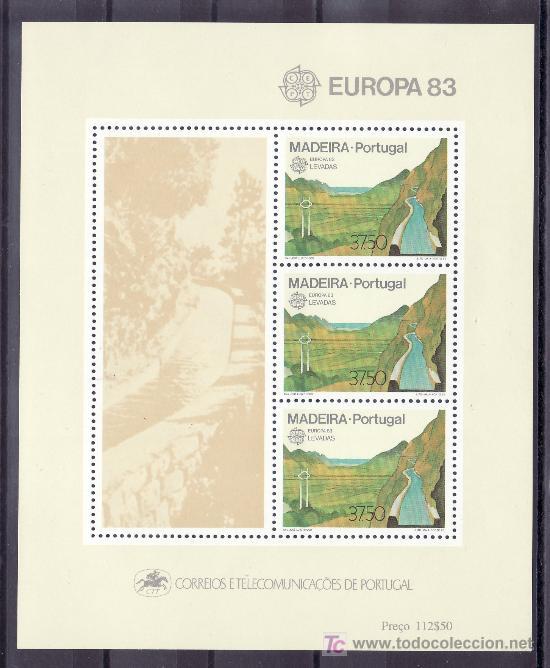 PORTUGAL MADEIRA HB 4 SIN CHARNELA, TEMA EUROPA, GRANDES OBRAS DE LA HUMANIDAD (Sellos - Extranjero - Europa - Portugal)