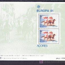 Sellos: PORTUGAL AZORES HB 2 SIN CHARNELA, TEMA EUROPA, FOLKLORE. Lote 17011414
