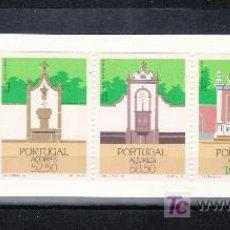 Sellos: PORTUGAL AZORES 366A CARNET SIN CHARNELA, ARQUITECTURA REGIONAL, FUENTES,. Lote 21047805
