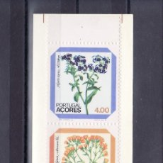 Sellos: PORTUGAL AZORES 338A CARNET SIN CHARNELA, FLORES REGIONALES. Lote 19832033