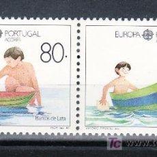 Sellos: PORTUGAL AZORES 391/2 SIN CHARNELA, TEMA EUROPA, JUEGOS INFANTILES,. Lote 20114658