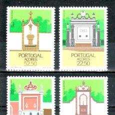 Sellos: PORTUGAL AZORES 366/9 SIN CHARNELA, ARQUITECTURA REGIONAL, FUENTES,. Lote 19867076