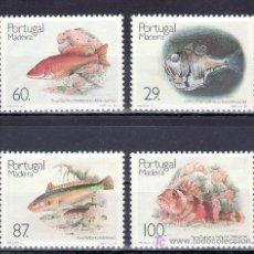 Sellos: PORTUGAL MADEIRA 136/9 SIN CHARNELA, FAUNA, PECES DE MADEIRA,. Lote 17043973