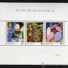 Sellos: PORTUGAL: HB 1990 PINTURA PORTUGUESA DEL SIGLO XX - NUEVO. Lote 18780523