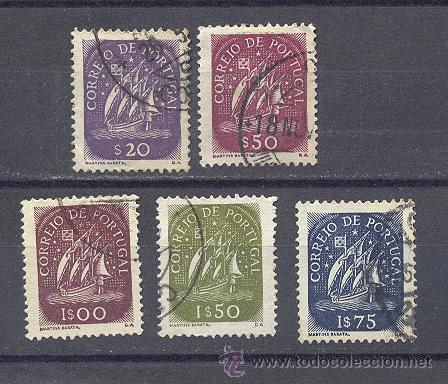 PORTUGAL- 1943-1949- CARAVELA-USADOS (Sellos - Extranjero - Europa - Portugal)