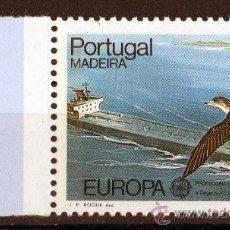 Sellos: MADEIRA AÑO 1986 YV 111*** EUROPA - PROTECCIÓN DE LA NATURALEZA Y EL MEDIO AMBIENTE - AVES - BARCOS. Lote 26454601