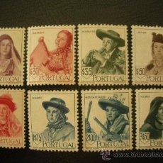 Sellos: PORTUGAL 1947 IVERT 688/95 * SOMBREROS REGIONALES (II) - FOLCLORE. Lote 27870967
