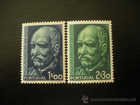 PORTUGAL 1956 IVERT 829/30 * CENTENARIO NACIMIENTO QUIMICO FERREIRA DA SILVA - PERSONAJES (Sellos - Extranjero - Europa - Portugal)