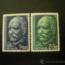 Sellos: PORTUGAL 1956 IVERT 829/30 * CENTENARIO NACIMIENTO QUIMICO FERREIRA DA SILVA - PERSONAJES. Lote 27881190