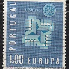 Sellos: PORTUGAL IVERT 888, EUROPA 1961, USADO. Lote 27976525