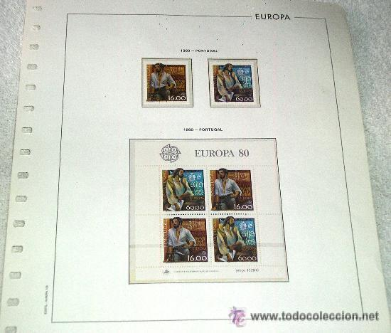 EDIFIL EUROPA HOJA DE ALBUM SELLOS Nº 125 PORTUGAL (Sellos - Extranjero - Europa - Portugal)