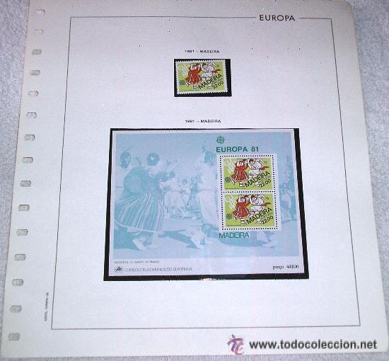 EDIFIL EUROPA HOJA DE ALBUM SELLOS Nº 133 MADEIRA 1981 (Sellos - Extranjero - Europa - Portugal)