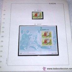 Sellos: EDIFIL EUROPA HOJA DE ALBUM SELLOS Nº 133 MADEIRA 1981. Lote 28150095