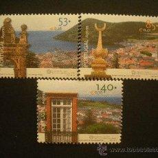Sellos: PORTUGAL AZORES 2001 IVERT 469/71 *** PATRIMONIO MUNDIAL - ANGRA DO HEROISMO - MONUMENTOS. Lote 30737051