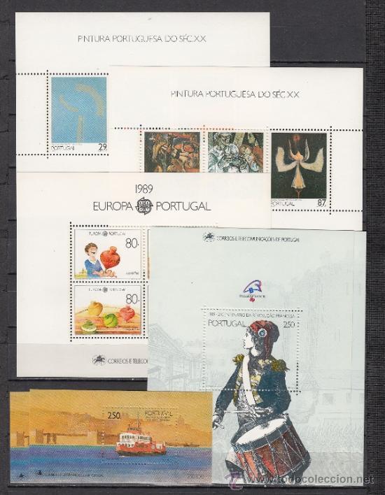 PORTUGAL 1750/83, HB64/9 SIN CHARNELA, AÑO 1989 VALOR CAT 141 EUROS + (Sellos - Extranjero - Europa - Portugal)