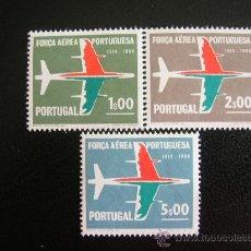 Sellos: PORTUGAL 1965 IVERT 974/6 *** 50º ANIVERSARIO DE LA FUERZA AEREA NACIONAL - AVIONES. Lote 33332039
