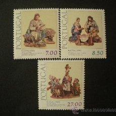 Sellos: PORTUGAL 1981 IVERT 1526/8 *** NAVIDAD - FUGURAS DE ARCILLA DEL MUSEO NACIONAL DE ARTE. Lote 33462554