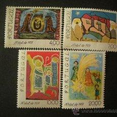 Sellos: PORTUGAL 1977 IVERT 1364/7 *** NAVIDAD - DIBUJOS INFANTILES . Lote 33462857
