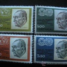 Sellos: PORTUGAL 1973 IVERT 1182/5 *** VISITA PRESIDENTE BRASIL A PORTUGAL - EMILIO GARRATAZU MEDICI. Lote 33709973