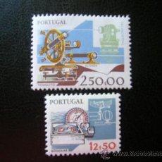 Sellos: PORTUGAL 1983 IVERT 1572/3 *** INSTRUMENTOS DE TRABAJO (V) - BRUJULA, RADAR Y TACÓMETRO. Lote 33739598