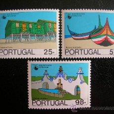 Sellos: PORTUGAL 1987 IVERT 1687/9 *** 75º ANIVERSARIO INSTITUCIONALIZACION DEL TURISMO - ARQUITECTURA . Lote 33811076