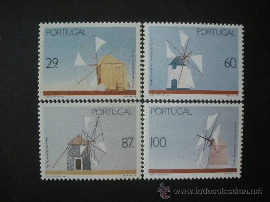 PORTUGAL 1989 IVERT 1770/3 *** MOLINOS DE VIENTO (Sellos - Extranjero - Europa - Portugal)