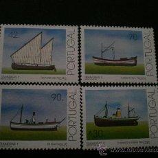 Sellos: PORTUGAL 1993 IVERT 1962/5 *** BARCOS ARRASTREROS DE LAS COSTAS PORTUGUESAS (I). Lote 34224970