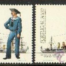 Sellos: PORTUGAL AÑO 1983 YV 1565/68*** UNIFORMES MILITARES DE LA ARMADA PORTUGUESA (I SERIE) - BARCOS. Lote 34689167