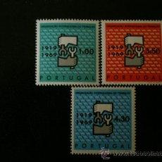 Sellos: PORTUGAL 1969 IVERT 1057/9 *** 50º ANIVERSARIO ORGANIZACIÓN INTERNACIONAL DEL TRABAJO . Lote 34819148