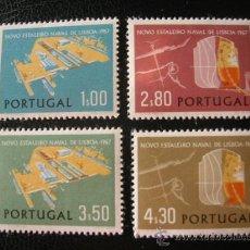 Sellos: PORTUGAL 1967 IVERT 1017/20 *** INAUGURACIÓN INSTALACIONES PORTUARIAS DE LISBOA . Lote 34819403