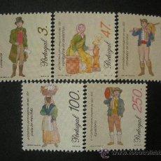 Sellos: PORTUGAL 1996 IVERT 2094/8 *** SERIE BÁSICA - PROFESIONES Y PERSONAJES DEL SIGLO XIX. Lote 35469221