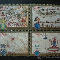 Sellos: PORTUGAL 1997 IVERT 2192/5 *** CARTOGRAFIA DE PORTUGAL . Lote 35558547