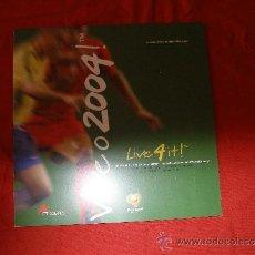 Sellos: LIBRO CON LOS SELLOS OFICIALES DEL UEFA EURO 2004. VIVEO 2004. Lote 36071696