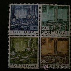 Sellos: PORTUGAL 1970 IVERT 1076/9 *** INAUGURACIÓN REFINERÍA DE PETROLEO DE PORTO. Lote 36135250