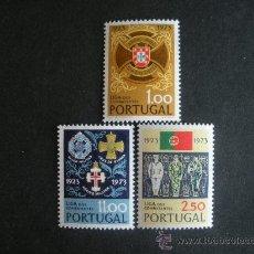 Sellos: PORTUGAL 1973 IVERT 1203/5 *** 50º ANIVERSARIO DE LA LIGA DE COMBATIENTES. Lote 36174278