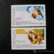 Sellos: PORTUGAL 1981 IVERT 1512/3 *** 750 ANIVERSARIO MUERTE DE SAN ANTONIO DE LISBONNE - RELIGIÓN . Lote 36279431