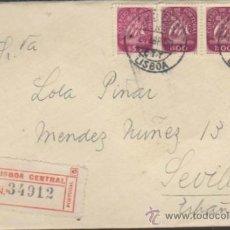 Sellos: CARTA DE LISBOA A SEVILLA DEL 21 ABRIL DE 1950.. Lote 36734821
