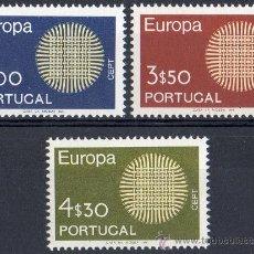 Sellos: PORTUGAL AÑO 1970 YV 1073/75*** EUROPA. Lote 37874767