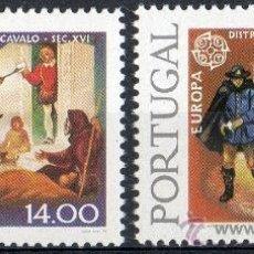Sellos: PORTUGAL AÑO 1979 YV 1421/22*** EUROPA - HISTORIA DEL CORREO POSTAL. Lote 37875337